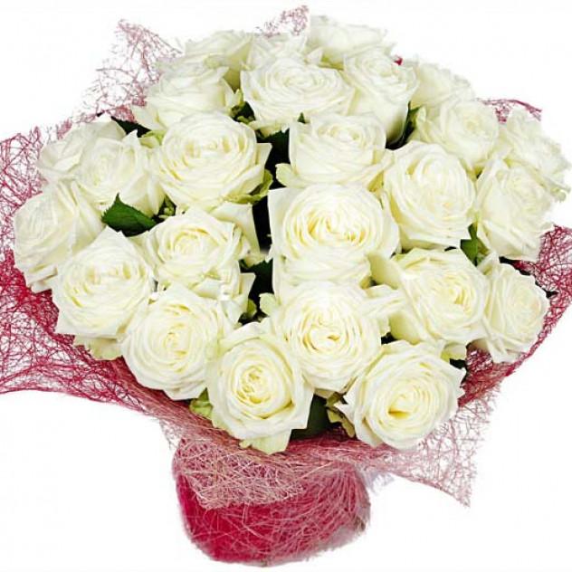 Букет из белых роз № 7
